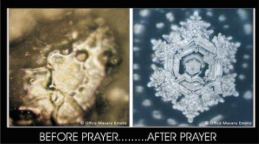Waterkristallen met verschillende energie